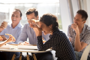 Lachende cursiten Academie Coaching Counselling